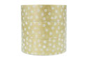 Washi Tape Muster Punkte gold weiß