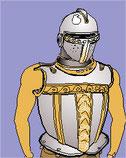 een ridder aankleden (Eng.)
