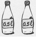 1/2 liter, liter, anderhalve liter