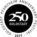 Logo Jubiläumsfestival 250 Jahre Goldstadt Pforzheim 2017
