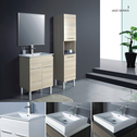 JAZZ vanity (available white/birch/ash grey, legs/kicks, ceramic top/stone top with basin) - 600mm