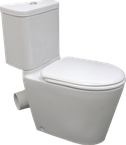Space Solution Closed Coupled Corner Skew Toilet Suite, WELS 4 star rating, 4.5/3L