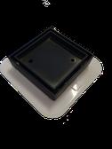 Black Chrome Finish Bounty Mega Bermuda Square Tile Insert Floor Smart Waste with Flange