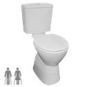 Raised Height Pan toilet suites for people with ambulant disabilities