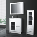 IDEAL finger pull vanity - 750mm (glass door option)