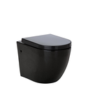 Black KoKo Wall faced Pan and Seat with Geberit/R&T in wall cistern
