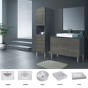 JAZZ vanity (available white/birch/ash grey, legs/kicks, ceramic top/stone top with basin) - 900mm