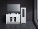 ARTO vanity with glass doors & upgrade stone top and over counter basin - 1200mm