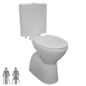Select Ambulant Plastic Cistern Toilet Suite, WELS 4 star rating, 4.5/3L