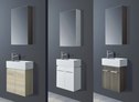 JAZZ Mini Wall Hung ensuite vanity (available white/birch/ash grey) - 480x240mmh grey) - 480mm