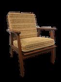 assise vintage,  mobilier vintage, mobilier scandinave, fauteuil vintage, mobilier danish, mobilier vintage, mobilier d'occasion, meubles vintages, meubles sctiquites, furniture, mobilier en bois,decoration,