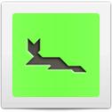 Tangram Cat Lying