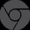 Logo Chrome Gris