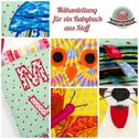 Babybuch aus Stoff Nähanleitung erstes Stoffbuch für Babys Nähanfänger Applikationen