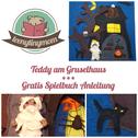 Spielbuch Quiet book Puppenhaus Teddy  nähen