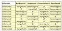 Excel-Vorlage: Konkurrenzanalyse