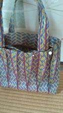 個性的 畳縁たたみへりバッグ