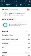 fitbit macronutrients break down