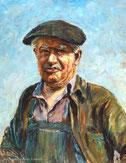 Portrait de Roger Emérial par l'artiste André Puech.