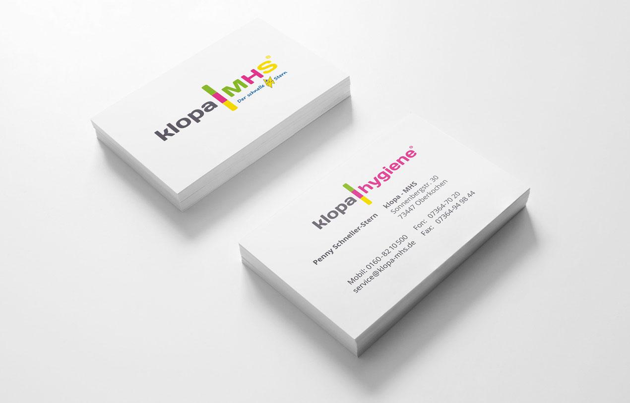Klopa MHS - Visitenkarten