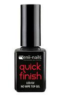 quick finish eniinails lucido finale senza dispersione effetto vetro per unghie