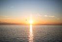 Photo coucher de soleil Bas-Saint-Laurent Rimouski Québec Canada été fleuve par Marie Deschene photographe Pakolla