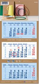 3-Monats-Mehrblock-Kalender 2019