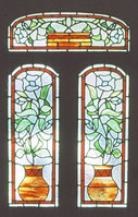 Potted Plants  Stained glass by #rossglassdesigns.com