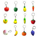 Fruits Key Chains Stress Relievers