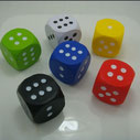 Dices Shape Stress Relievers (regular colors 5cm)
