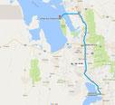 Strecke: 16. Tag (Google Maps)