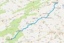 Strecke: 17. Tag (Google Maps)