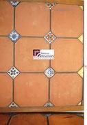Loseta de Barro San Felipe en Barro Natural Bendix 20 x 20 x 2 para pisos rústicos con apariencia mexicana en cocinas, salas, reacámaras los tenemos en www.rusticosartesanales.com