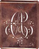 Antike Monogrammschablone CA