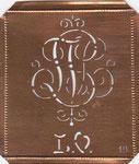 Monogramm Schablone LV