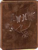 Stickschablone Monogramm WM