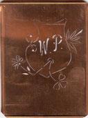 Uralte Monogramm Schablone WP