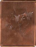 Schablone aus Kupfer WZ