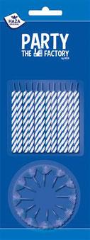 Taartkaarsjes blauw 24 stuks €1,05