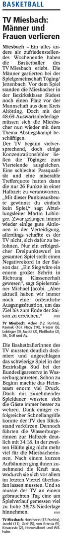 Bericht im Miesbacher Merkur am 24.01.2018 - Zum Vergrößern klicken