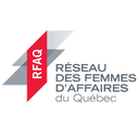 Logo RFAQ Réseau des Femmes d'Affaires du Quebec client of Pakolla business photographer