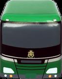 プルバックカー ストラップ/キーホルダー バス型 正面