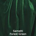 joustava kangas lycra sametti forest green