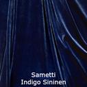joustava kangas lycra sametti Indigo sininen blue