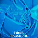 joustava kangas lycra sametti Turkoosi 2007