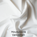 joustava kangas housu lycra Valkoinen 0028