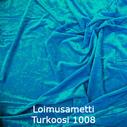 joustava kangas lycra sametti Loimusametti Turkoosi Turquoise 1008