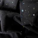 joustava kangas paljetti Verkko Cosmic Musta Musta