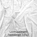 joustava kangas lycra sametti Loimusametti Valkoinen 1013