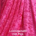 joustava kangas lycra sametti Loimusametti Hot Pink
